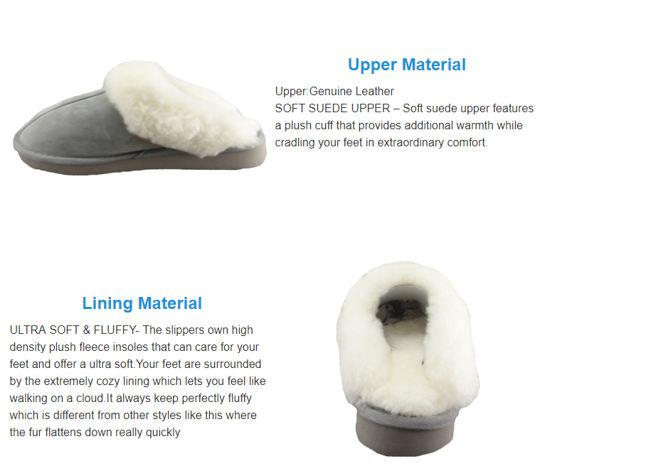 High quality sheepskin slippers