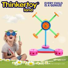 Kunststoff Windmühle Bau Baustein Spielzeug für Kindertagesstätte