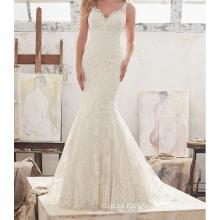 Vestido de boda atractivo del vestido de boda de la playa 2017 últimos diseños del vestido