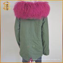 Casaco com capuz personalizado personalizado Casaco grosso Casaco de pele com capuz de inverno Parka