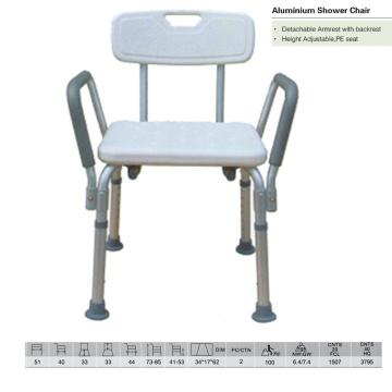 Banco de ducha de aluminio de asiento PE