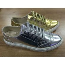 Summer Shine Gold Color PU Shoe