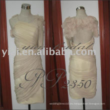 PP2350 los vestidos formales formales del hombro de la gasa atractiva un corto visten los patrones