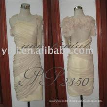 PP2350 sexy chiffon um ombro formal vestidos curtos padrões