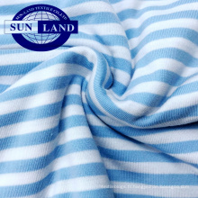 Vente chaude tricoté jersey tissu fil teint filé jersey poly spandex