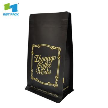 translucent forsted plastic black tea bag packaging