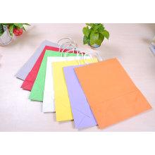 Модные цветные ручные упаковочные бумажные пакеты для подарочной упаковки