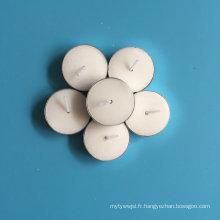 Bougies chauffe-plat rondes de couleur blanche