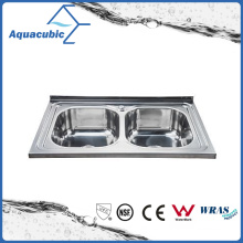 Above Counter Stainless Steel Moduled Kitchen Sink (ACS-8050D)