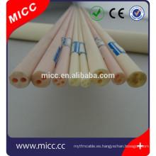 tubo aislador de cerámica del tubo aislador de cerámica del termopar