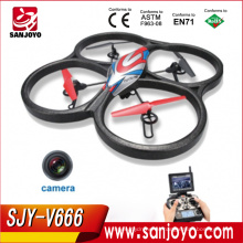 ¡JJRC Hot & New Toys! 5.8G 6 ejes giroscopio RC a gran escala Quadcopter con lcd HD cámara monitor FPV RC Drone SJY-JJRC-V666