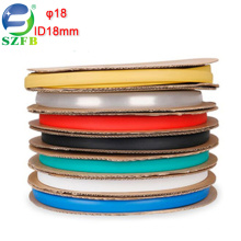 Feibo manufacturer colorful electrical cable insulation ID 18mm single wall PE heat shrink tubing