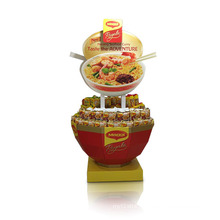 Round Cardboard Display for Food, Stylish Display Stand