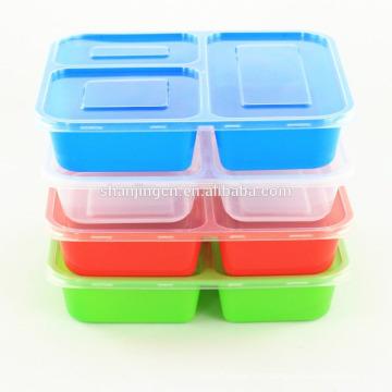 Auslaufsichere Microwavable Bunte Kunststoff-Bento-Lunchbox mit Trennwänden Auslaufsichere Microwavable Bunte Kunststoff-Bento-Lunchbox mit Teilersof
