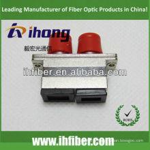 Adaptateur SC FC / adaptateur hybride optique boîtier en métal duplex