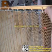 Tela decorativa de malla de alambre que cuelga la cortina del metal