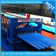 Rollo de techo ondulado máquina de formación de rollo, hoja de azulejos de azulejos corrugados haciendo productos de la máquina