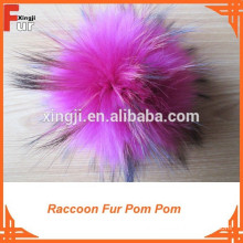 Beautiful Pink Color Fur Pom Pom For Hats
