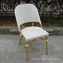 TC- (7) Chaise moderne en tissu teslin / chaise à manger en textile