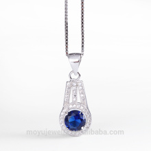 3 colors cubic zirconia stone micro pave pendant wedding jewelry set