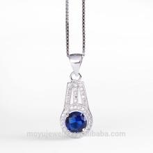 3 colors cubic zirconia stone micro pave pendant wedding jewelry set