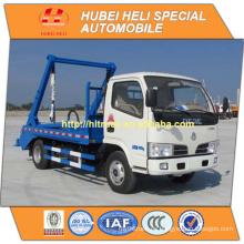 DONGFENG 4x2 pequeño camión de basura de la ciudad 4m3 reciclando tipo 95hp venta caliente