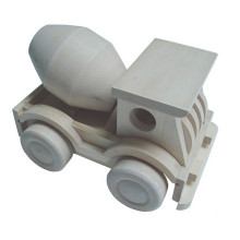 hot selling wooden concrete mixer truck toy car