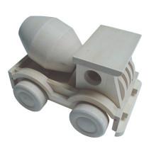 Venda quente de madeira concreto misturador caminhão carro de brinquedo
