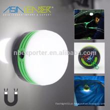 USB recarregável multi função utilidade luz com magnético e gancho, lanterna camping mini