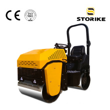 Ride-on type double drum mini portable road roller