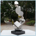 Pool Decoration Highly Polished Abstract Stainless Steel Sculpture