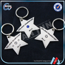 star shape grlahy challenge keyring for children