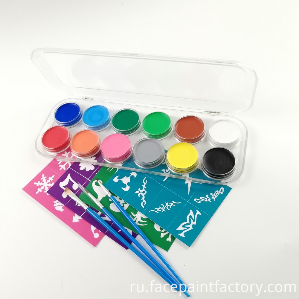 12 Colors Face Paint 5