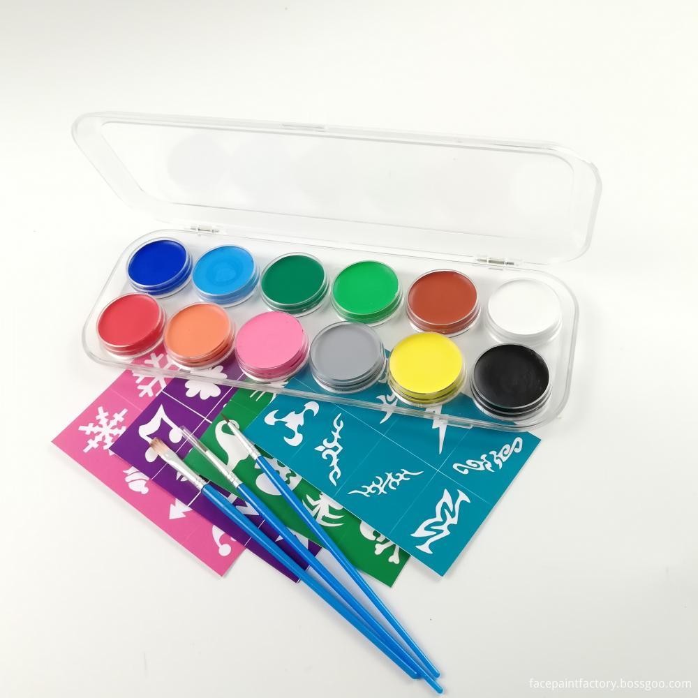 12 Colors Face Paint 5