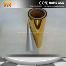 Película de metalización PET Película de laminación térmica de oro