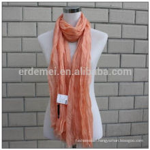 polyester crinkle solid color fashion hijab scarf