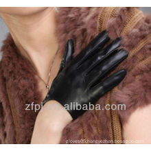 lady short dancing sheepskin leather glove