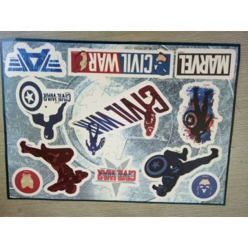 Pelekat Custom UV Vinyl Die Cut Waterproof