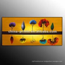 Pintura al óleo hecha a mano del paisaje para la sala de estar