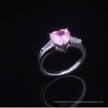 Anillos románticos de aniversario de 10 años anillos aaa anillos de zirconia cúbica joyas de rodio plateado es su buena elección