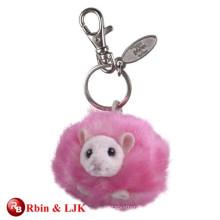 High quality custom plush animal soft keychain
