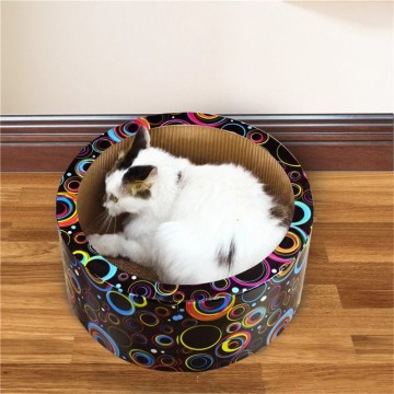 Round Interactive Cat Scratcher with Catnip