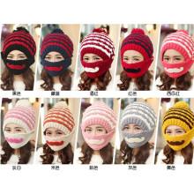 Customfashion Máscara Beard Handmade tricô Knitted Hat