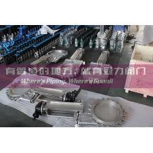 Válvula de compuerta eléctrica tipo cuchilla CF8m