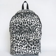 Backbag preto e branco da lona do leopardo
