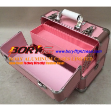Mallette de rangement en métal en aluminium Boîte de voyage Mallette de maquillage professionnelle