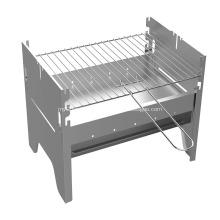 Barbecue au charbon 3 niveaux avec surface supplémentaire