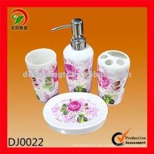 Reforçar o acessório do banheiro de cerâmica, acessórios do banheiro na china