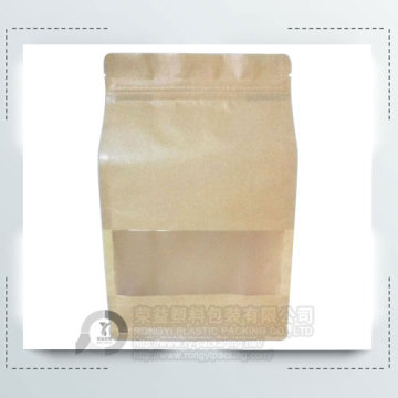 Window Kraft Paper Flat Bottom Pouch