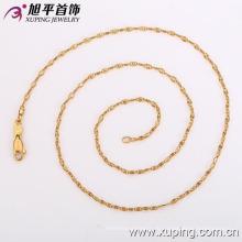 42116 Xuping Mode schlichtes Design 18k Verlobungsdame Halskette